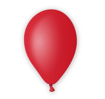 Pastelový balónek červený