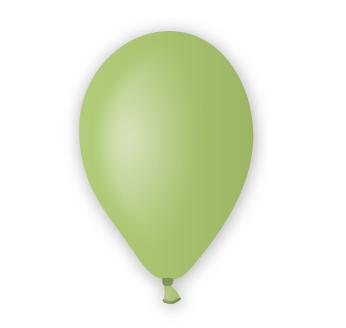 Pastelový balónek světle zelený
