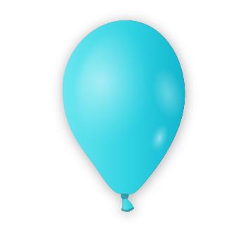 Dekorační balónek nebesky modrý