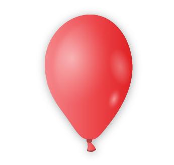 Dekorační balónek zářivě červený