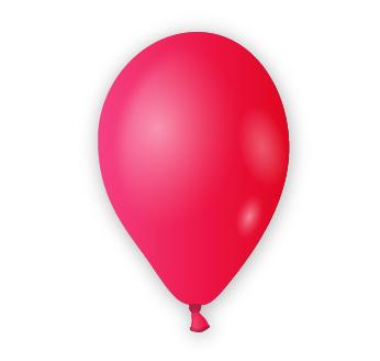 Dekorační balónek rubínově červený