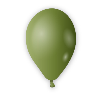 Dekorační balónek zelený