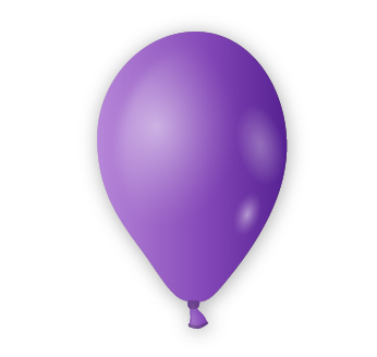 Dekorační balónek fialový