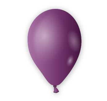 Dekorační balónek tmavě fialový
