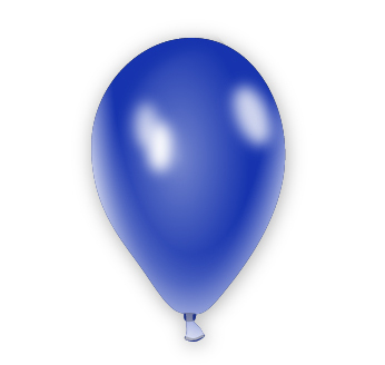 Metalický balónek modrý
