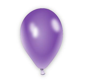 Metalický balónek fialový