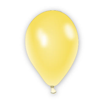 Metalický balónek zlatý