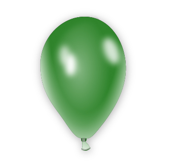 Metalický balónek zelený