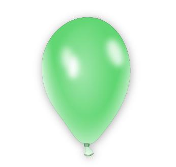 Metalický balónek světle zelený