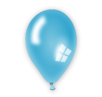 Perleťový balónek modrý