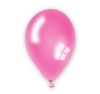 Perleťový balónek růžový