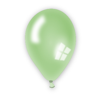 Perleťový balónek zelený