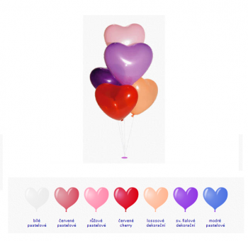 Balónek srdce fialový dekorační