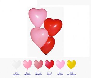 Balónek srdce velký červený pastelový