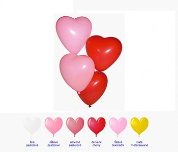 Balónek srdce velký růžový dekorační