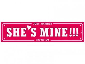 Svatební SPZ – Je moje!