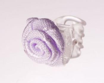 Růžička na skřipečku fialková