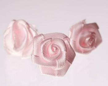 Růžička na skřipečku růžová