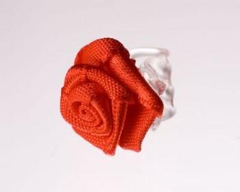 Růžička na skřipečku červená