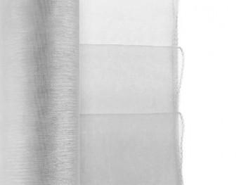 Organza obšitá stříbrná 38 cm