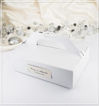 Svatební krabička na výslužku malá perleťová