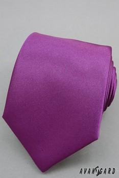 Kravata tmavě fialová Lux