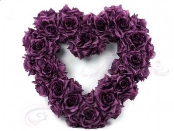 Srdce  fialové
