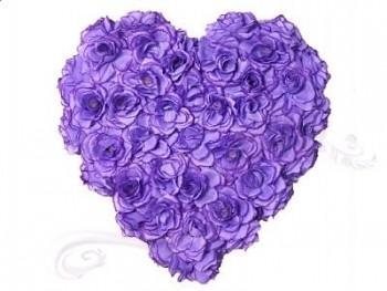 Srdce plné sv. fialové