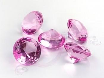Briliantové kamínky růžové, 5 ks