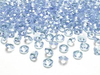Briliantové kamínky sv. modré, 100 ks