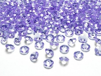 Briliantové kamínky lila, 100 ks