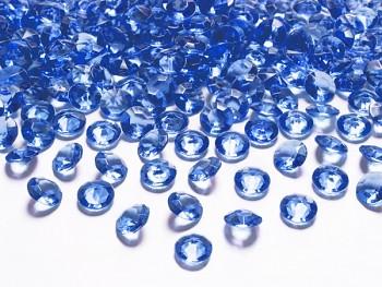 Briliantové kamínky královská modrá, 100 ks