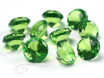 Briliantové kamínky sv. zelené, 10 ks