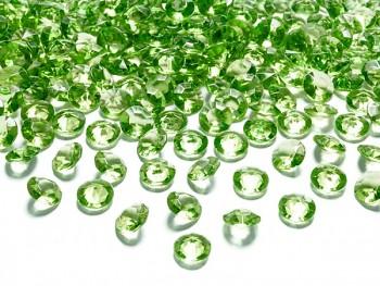 Briliantové kamínky sv. zelené, 100 ks