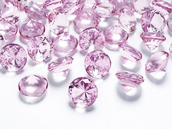 Briliantové kamínky sv.  růžové, 10ks