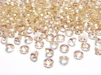 Briliantové kamínky zlaté, 100 ks
