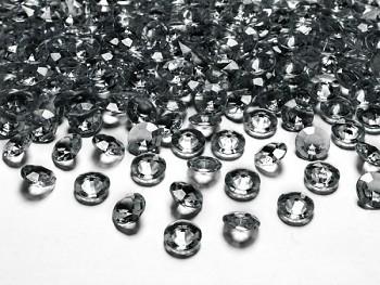 Briliantové kamínky, 12mm, šedé, 100ks