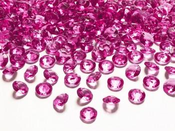 Briliantové kamínky tm. růžové, 100 ks
