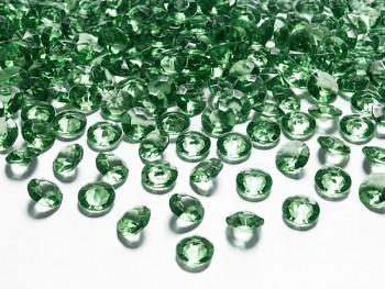 Briliantové kamínky zelené, 100 ks
