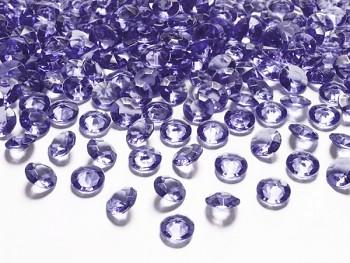Briliantové kamínky fialové, 100 ks