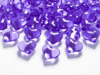 Krystalky srdce fialové, 30 ks