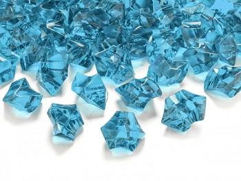 Krystalové kamínky tyrkysová, 50 ks