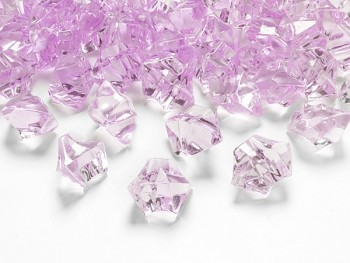 Krystalové kamínky růžová, 50 ks