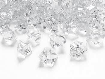 Krystalové kamínky bílá, 50 ks