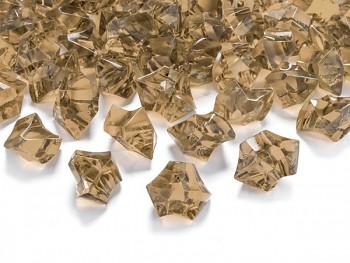 Krystalové kamínky zlaté, 50 ks