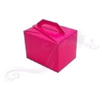 Krabička větší s ouškem tmavě růžová