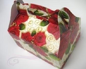 Krabička na výslužku červené růže