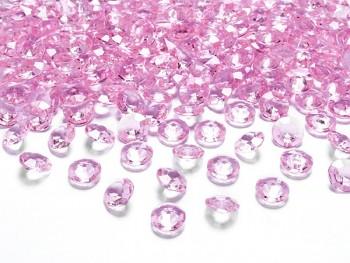 Briliantové kamínky sv. růžová, 100 ks