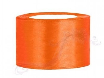 Saténová stuha oranžová 38mm/25m