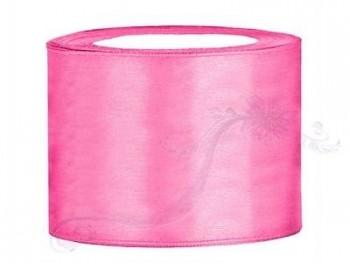 Saténová stuha růžová 50mm/25m